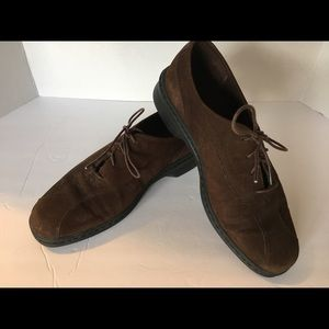 Clarks Brown Springers Lace Up Oxford Size 8W